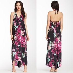 Yumi Kim Sasha Silk Halter Floral Maxi Dress